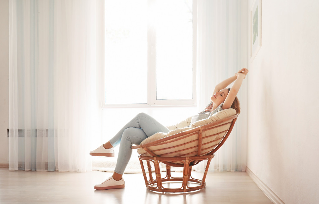 relaxed woman