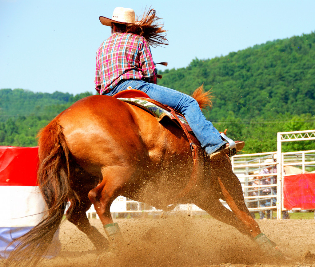 person in a rodeo